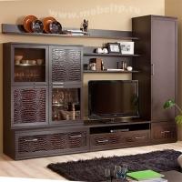 Корпусная мебель для гостиной с угловым шкафом Парма-Люкс