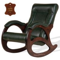 Кожаное кресло качалка Соната
