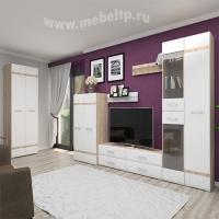 """Белая глянцевая мебель для гостиной """"Версаль"""""""