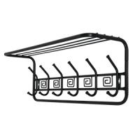 Настенная металлическая полка вешалка