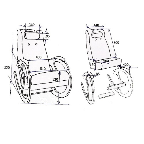 Кресло-качалка Блюз КР-5