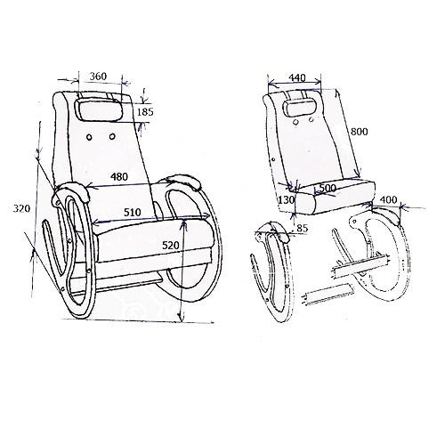 Кресло-качалка Блюз КР-12