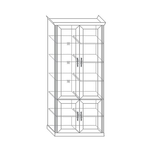 Шкаф 4-х дверный (1 стеклодверь) Венето