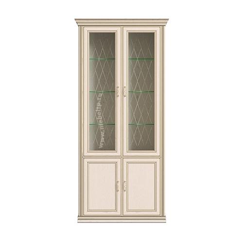 Шкаф 4-х дверный (2 стеклодвери) Венето
