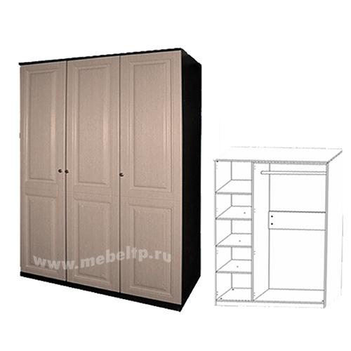Шкаф 3-х дверный Сибирь Е-219