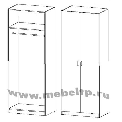 Шкаф для одежды 2-х дверный Румба