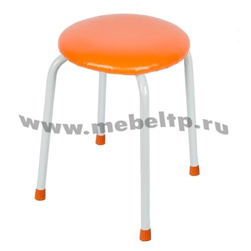Табурет круглый Крепкий (Оранжевый)