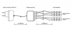 Тумба для аппаратуры высокая 1500 со стеклом Парма-Люкс