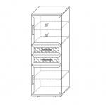 Шкаф низкий со стеклом Парма-Люкс