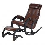 Кресло-качалка с подставкой Блюз Экокожа