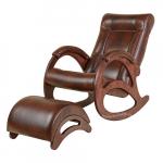 Кресло-качалка с подставкой Джаз Экокожа (Crocodille)