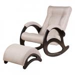 Кресло-качалка с подставкой Джаз Экоткань (Beige)