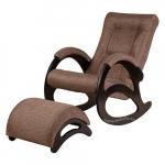 Кресло-качалка с подставкой Джаз Экоткань (Brown)