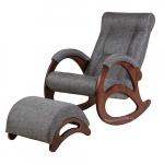 Кресло-качалка с подставкой Джаз Экоткань (Grey)