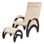 Кресло Сальса с банкеткой Экокожа (Cream)