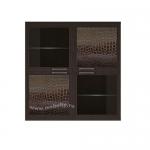 Полка 4-х дверная (2 стеклодвери) Парма-Люкс