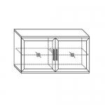 Полка навесная 1200 (2 стеклодвери) Парма-Люкс