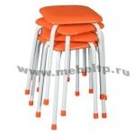 Табурет квадратный Крепкий (Оранжевый)