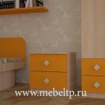 Тумба прикроватная Жили-Были (Оранжевый)