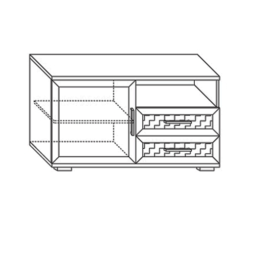 Тумба для аппаратуры высокая 1200 Парма-Люкс